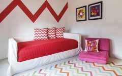 Multicolored Kids Bedroom Ideas Using Chevron Pattern ➤ Discover the season's newest designs and inspirations for your kids. Visit us at kidsbedroomideas.eu #KidsBedroomIdeas #KidsBedrooms #KidsBedroomDesigns @KidsBedroomBlog