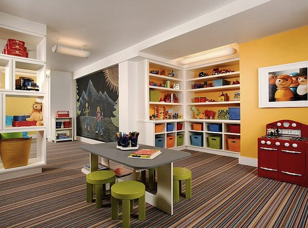 How to Transform Your Basement Into a Colorful Kids Playroom ➤ Discover the season's newest designs and inspirations for your kids. Visit us at www.kidsbedroomideas.eu #KidsBedroomIdeas #KidsBedrooms #KidsBedroomDesigns @KidsBedroomBlog colorful kids playroom How to Transform Your Basement Into a Colorful Kids Playroom How to Transform Your Basement Into a Colorful Kids Playroom 600x445