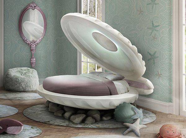 Kids Furniture Ideas - Little Mermaid Bed by Circu ➤ Discover the season's newest designs and inspirations for your kids. Visit us at www.kidsbedroomideas.eu #KidsBedroomIdeas #KidsBedrooms #KidsBedroomDesigns @KidsBedroomBlog kids bedroom furniture Kids Bedroom Furniture: Meet the Little Mermaid Bed by Circu Kids Furniture Ideas Little Mermaid Bed by Circu 600x445