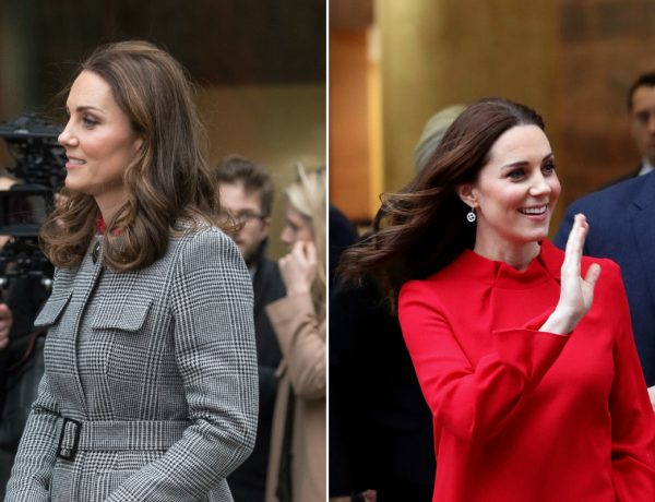 Kate Middleton Kate Middleton is Slaying With her Maternity Outfits and We Love It 1512767465 kate middleton pregnant red dress 600x460