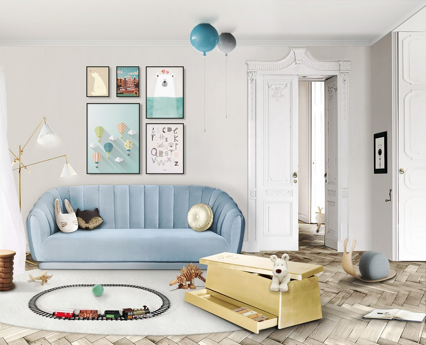 Kids Bedroom Decor Ideas: Golden Accessories for that Luxury Touch