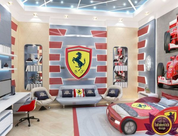antonovich design An Amazing Ferrari Boys Bedroom By Antonovich Design An Amazing Ferrari Boys Bedroom By Antonovich Design 3 600x460