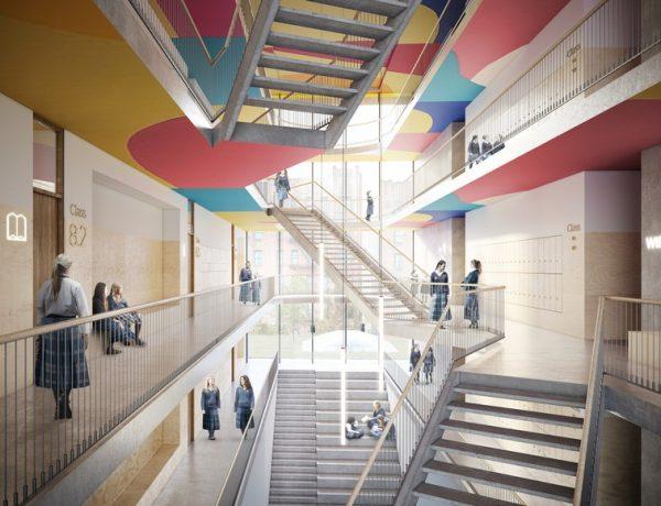 Kids Spaces Inspirations – An Amazing School By ODA The Beth Rivka School by ODA 4 600x460