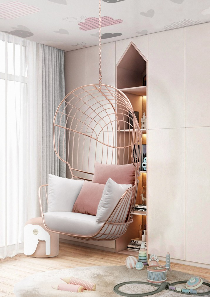 This Swing Chair is the ultimate Kids Bedroom Furniture Piece This Swing Chair is the ultimate Kids Bedroom Furniture Piece 1