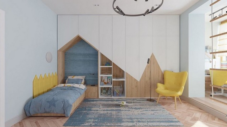 Geometric Vibes in this Amazing Kids Bedroom by CDF Design Studio Geometric Vibes in this Amazing Kids Bedroom by CDF Design Studio 2