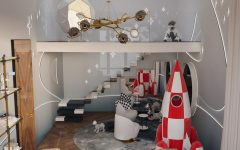 A Cosmic Kids Bedroom Design by Yuriy Zimenko