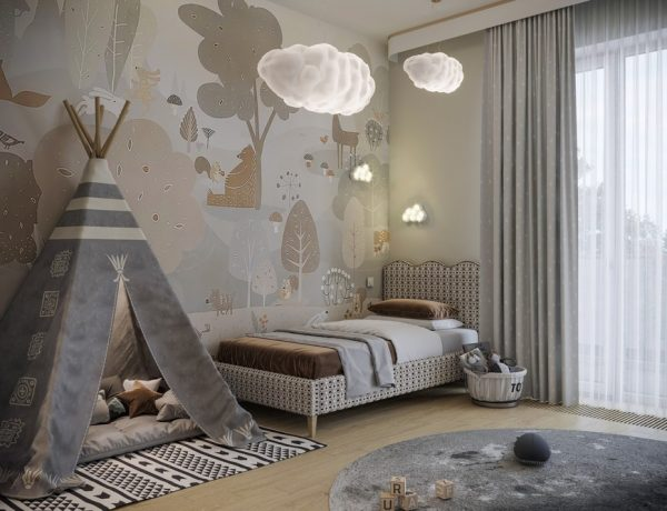 A Modern Kids Bedroom Design That Will take You to the Clouds A Modern Kids Bedroom Design That Will take You to the Clouds 1 600x460