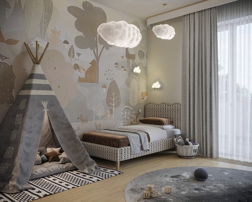 A Modern Kids Bedroom Design That Will take You to the Clouds A Modern Kids Bedroom Design That Will take You to the Clouds 1