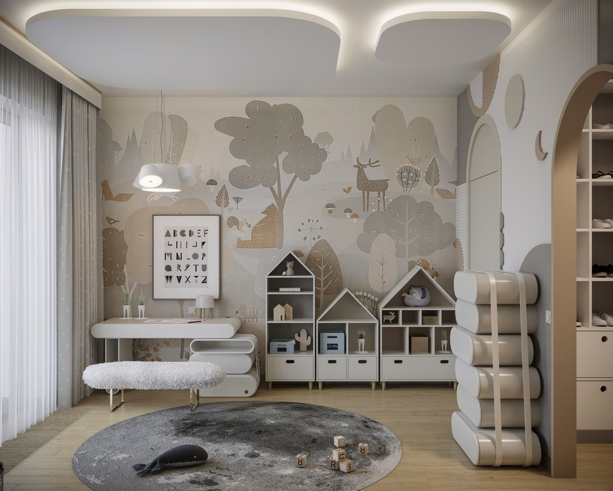 A Modern Kids Bedroom Design That Will take You to the Clouds A Modern Kids Bedroom Design That Will take You to the Clouds 2
