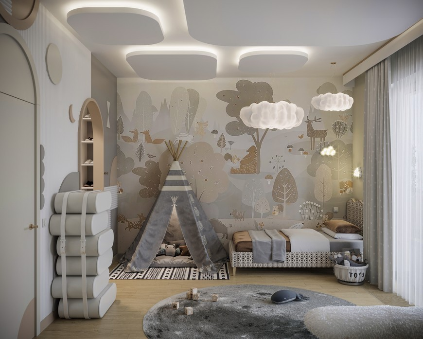 A Modern Kids Bedroom Design That Will take You to the Clouds A Modern Kids Bedroom Design That Will take You to the Clouds 3