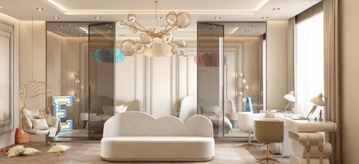 Kids Bedroom Ideas Contemporary Modern Kids Bedroom in a Villa in Monaco 5 1200x550