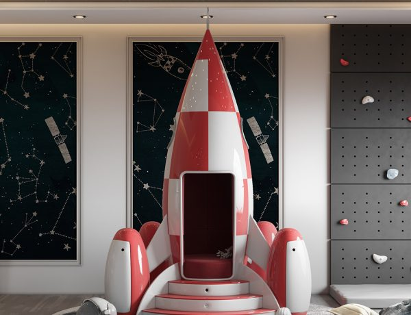 luxury space theme kids room Luxury Space Theme Kids Room: THE STARDOM ROOM 1 600x460