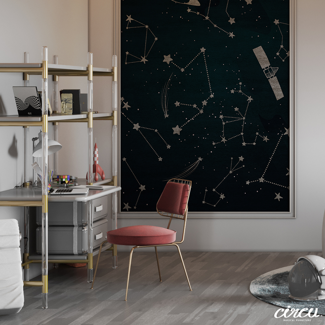 Kids Bedroom Ideas – A High-End Kids Study with Starry Vibes 2 1