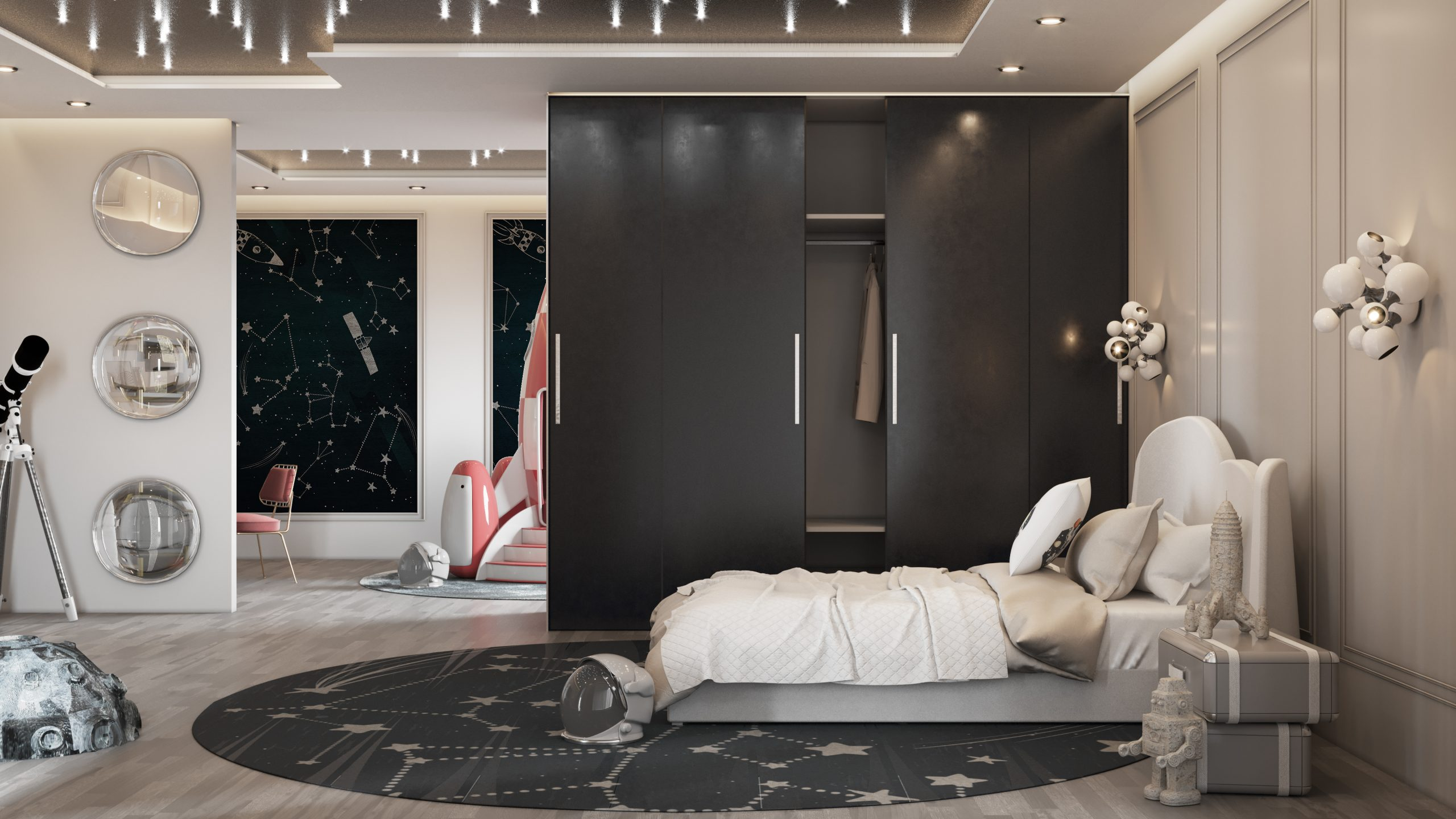 Luxury Space Theme Kids Room and playroom luxury space theme kids room Luxury Space Theme Kids Room: THE STARDOM ROOM CC 02 scaled