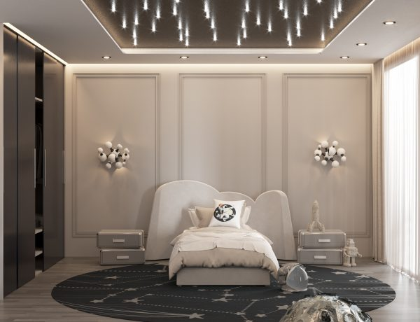 Neutral Toned Boys Bedroom with an Outer-Space Feeling CC 03 600x460