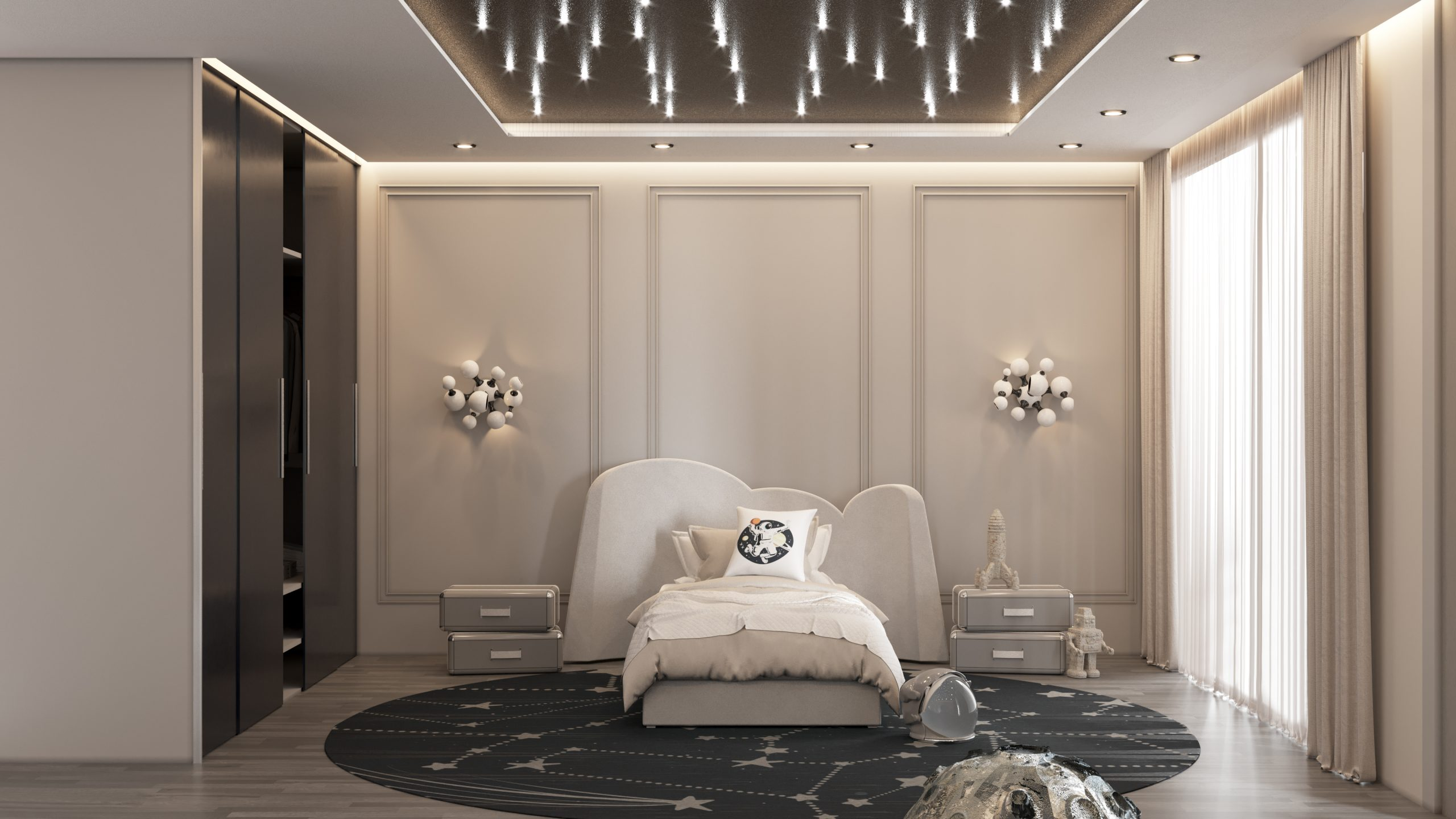 Luxury Space Theme Kids Room and playroom luxury space theme kids room Luxury Space Theme Kids Room: THE STARDOM ROOM CC 03 scaled