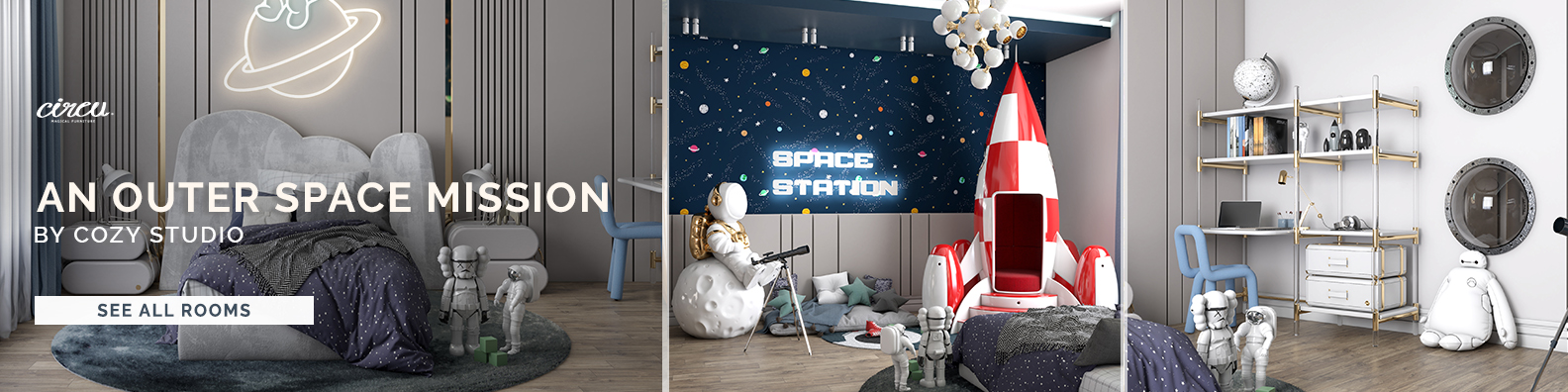 an outer space mission circu