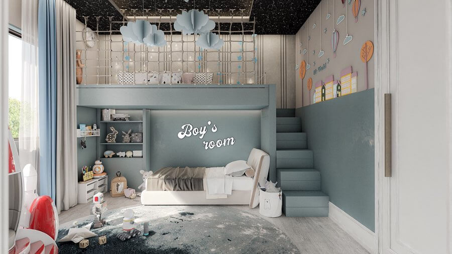 A Magical Boys' Room Inspired By The Space