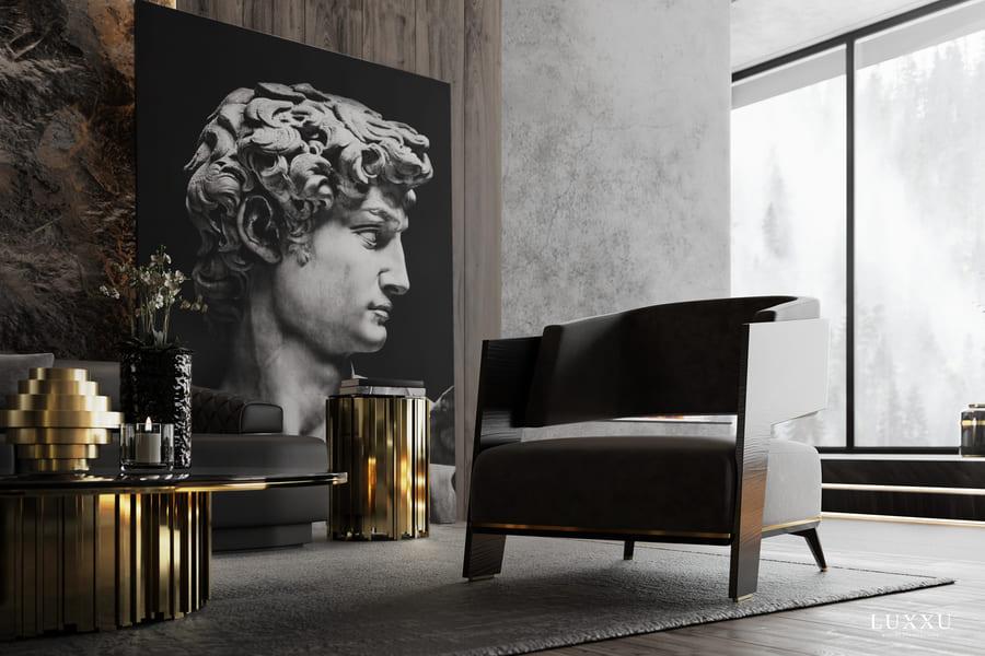 luxury living room design featuring exquisite furniture