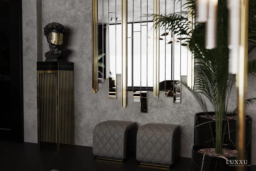 luxury dark details for an elegant design