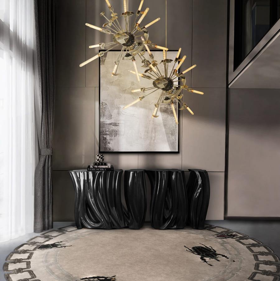outstanding room design with exclusive dark toned furniture