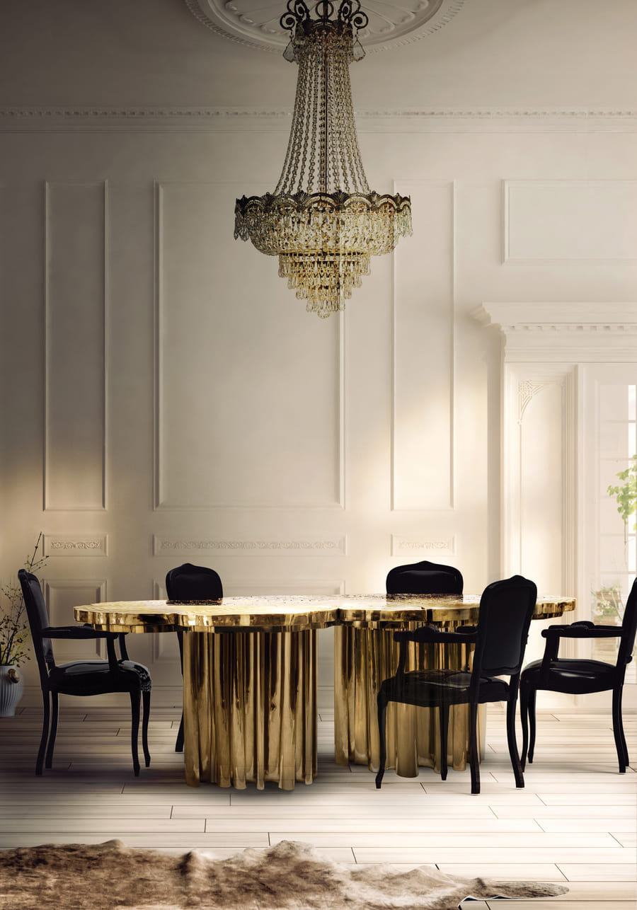 luxurious dining room design