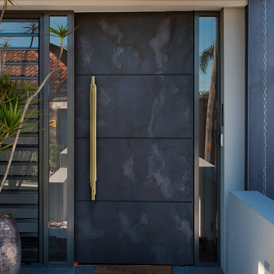 luxury entryway design with the most incredible handle design