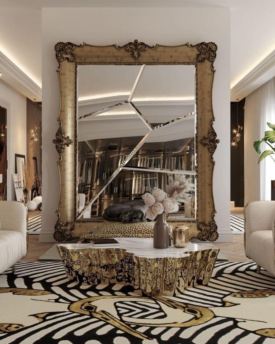 bold patterned rug