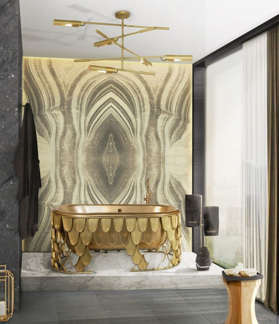 gold detailed bathroom