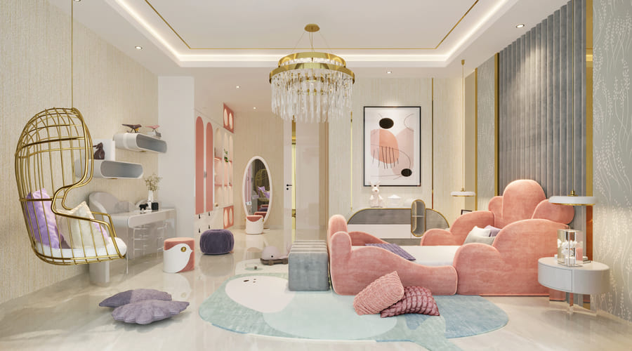 luxurious bedroom for a girl