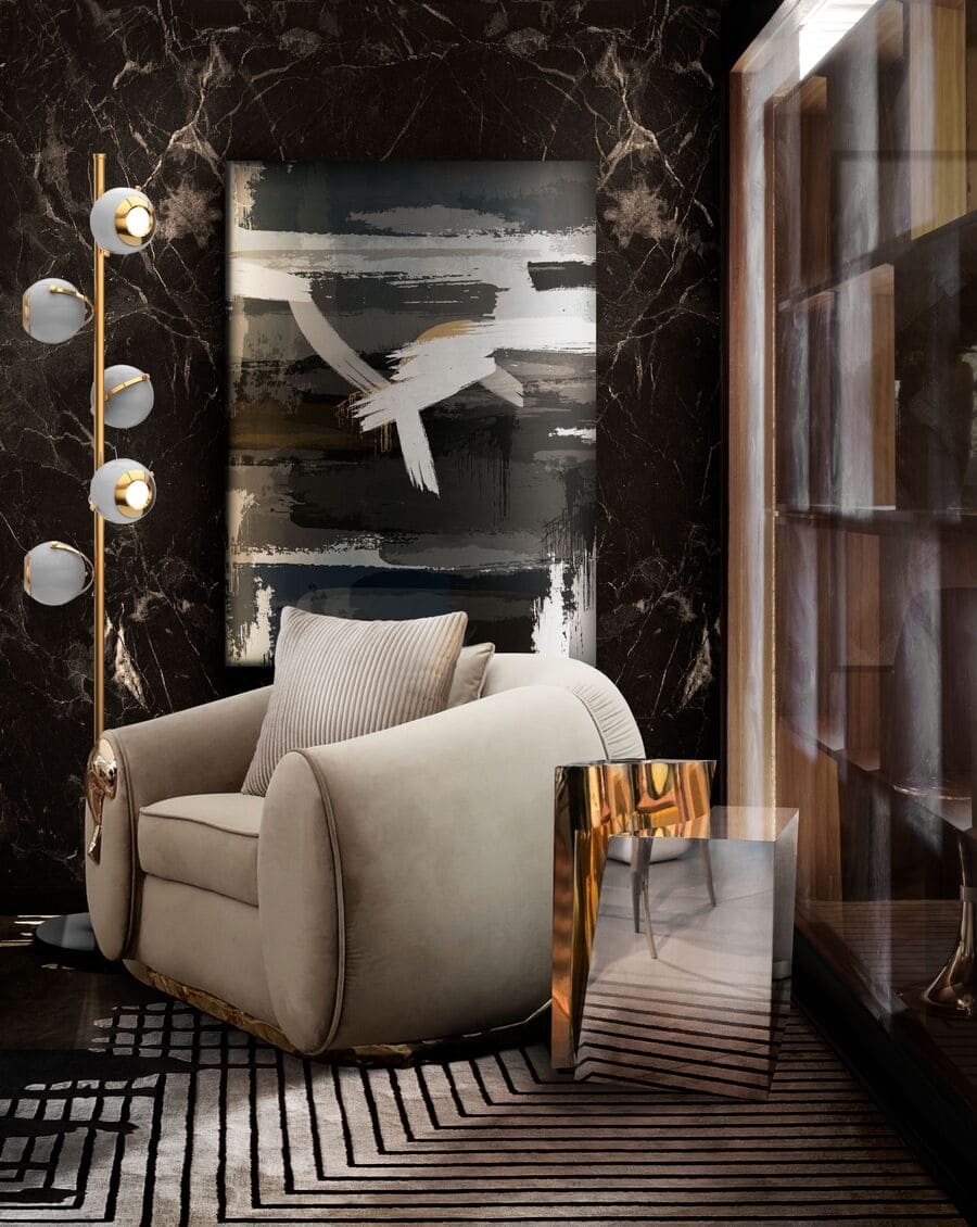Luxury furniture for the most elegant reading corner.