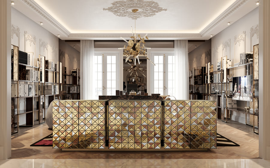 Iconic and unparalleled, the Pixel Sideboard presents a ground-breaking work of pioneering design.